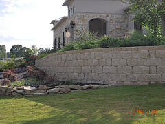 Retaining Wall used for foundational support, erosion control and aesthetic value